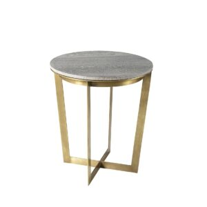 Mesa auxiliar hierro con tapa marmol