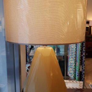 Lámpara mesa cerámica octogonal c/pantalla