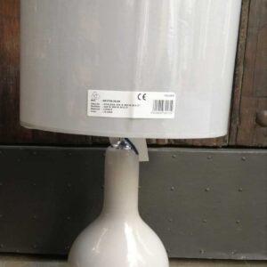 Lámpara mesa cerámica pq c/pantalla ovalada